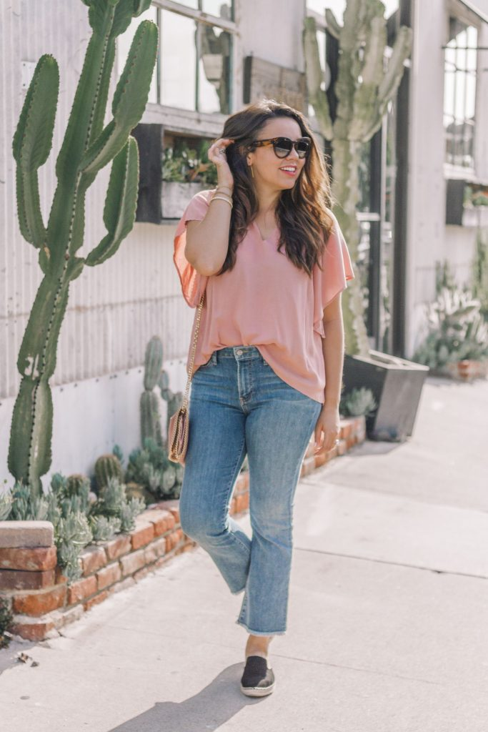 Cropped flare jeans outfit ideas | Adored by Alex