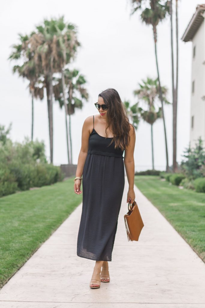 little black midi dress | Adored by Alex