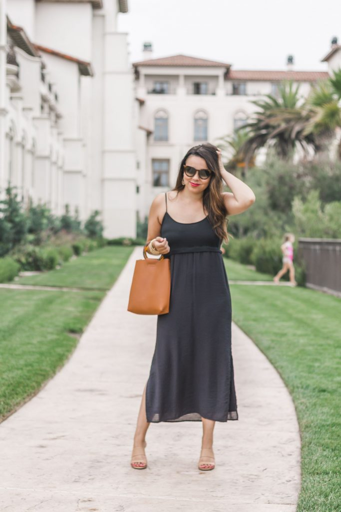 Splendid black midi dress