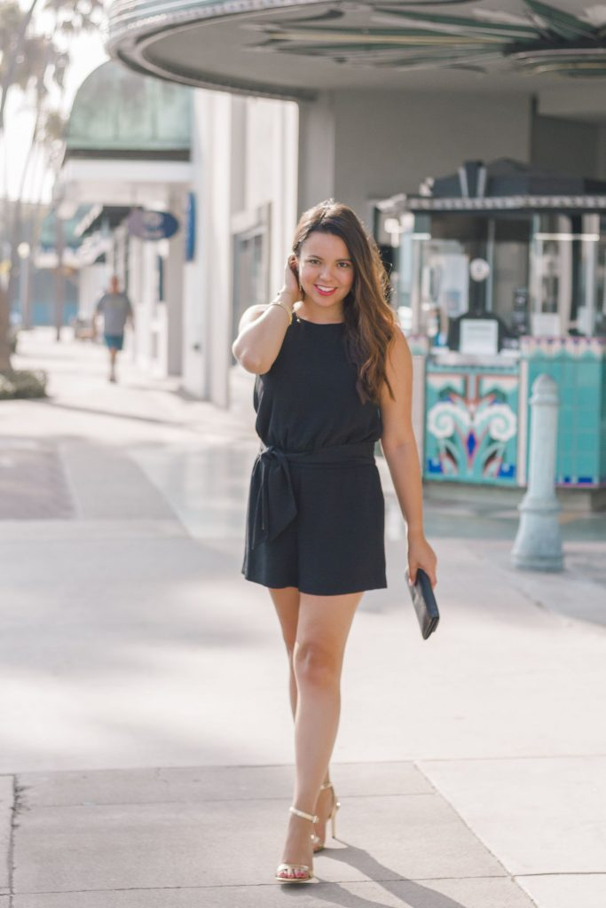 how to wear a shorts romper to evening events