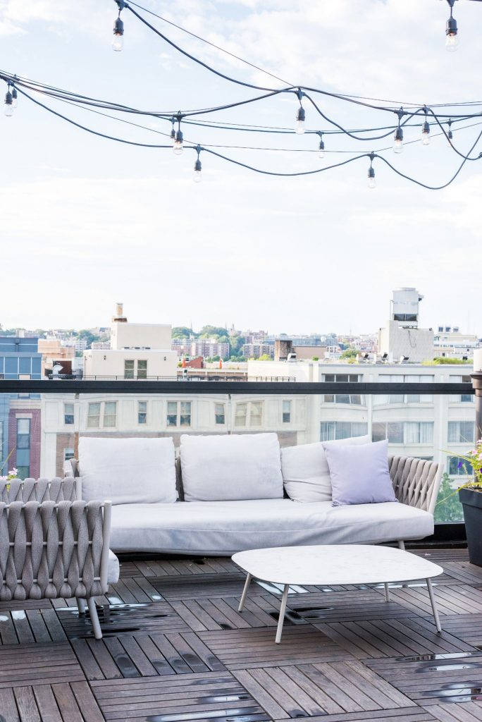 rooftop bar at Kimpton Mason & Rook | Adored by Alex