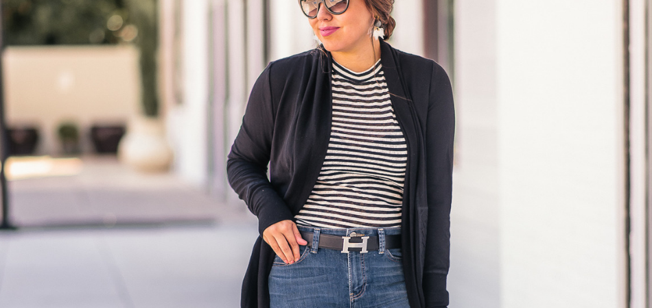 Cocoon Cardigan and Stripes | Adored by Alex