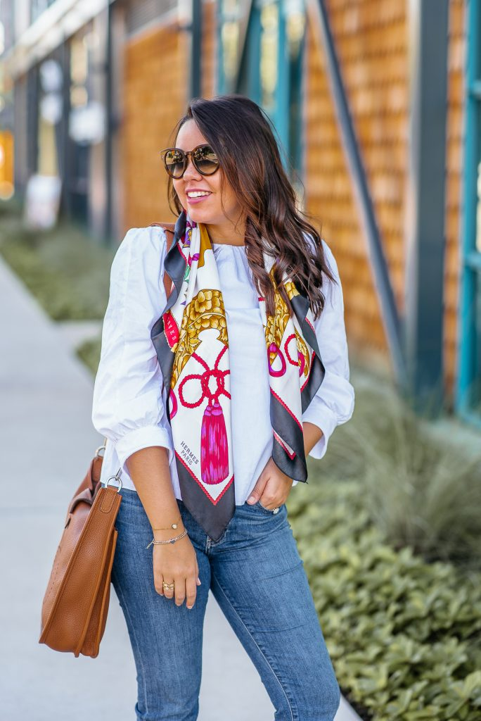 How to wear a vintage Hermes Scarf
