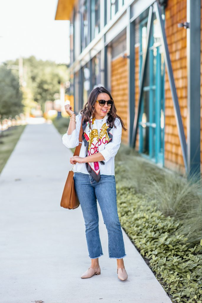 How to dress up a simple white blouse