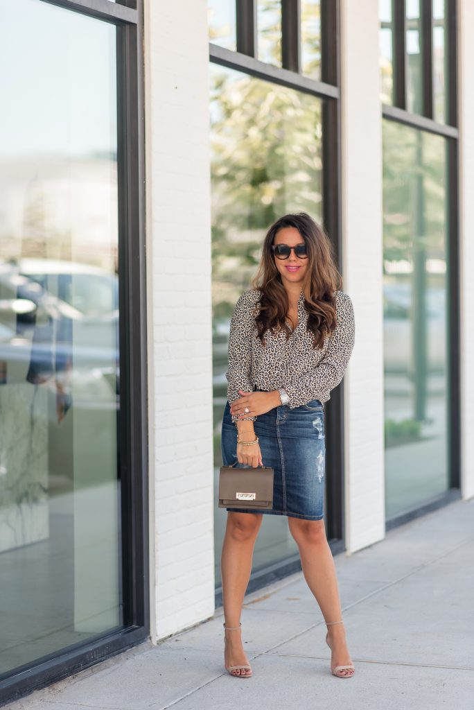 Leopard print blouse for fall