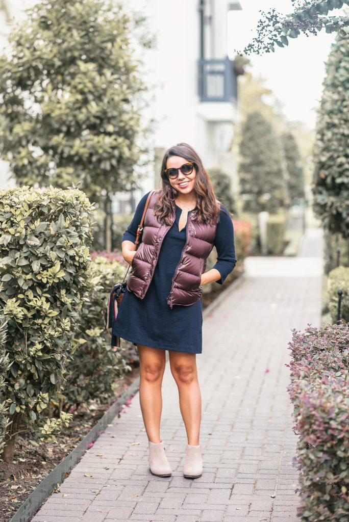 Fall puffer vest outfit ideas