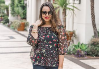 fall florals and blood lip color