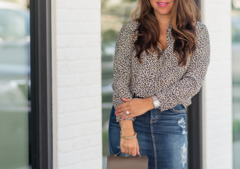 leopard print silk blouse | Adored by Alex