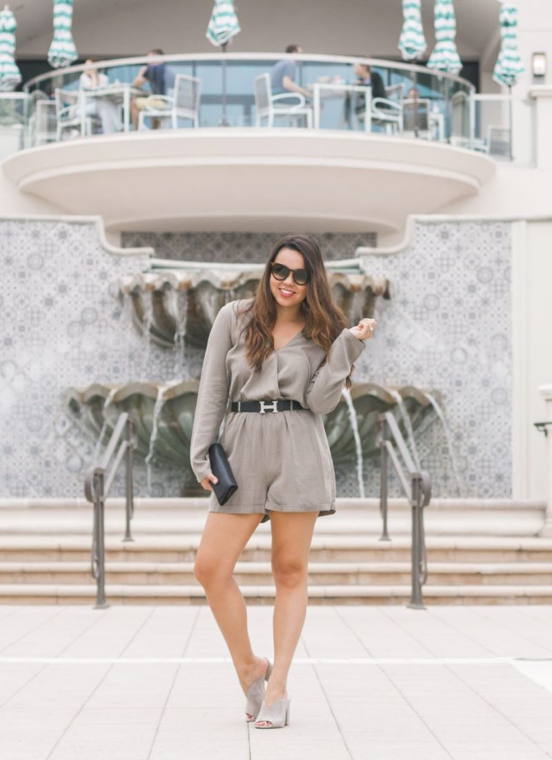 Long-sleeved Olive Romper