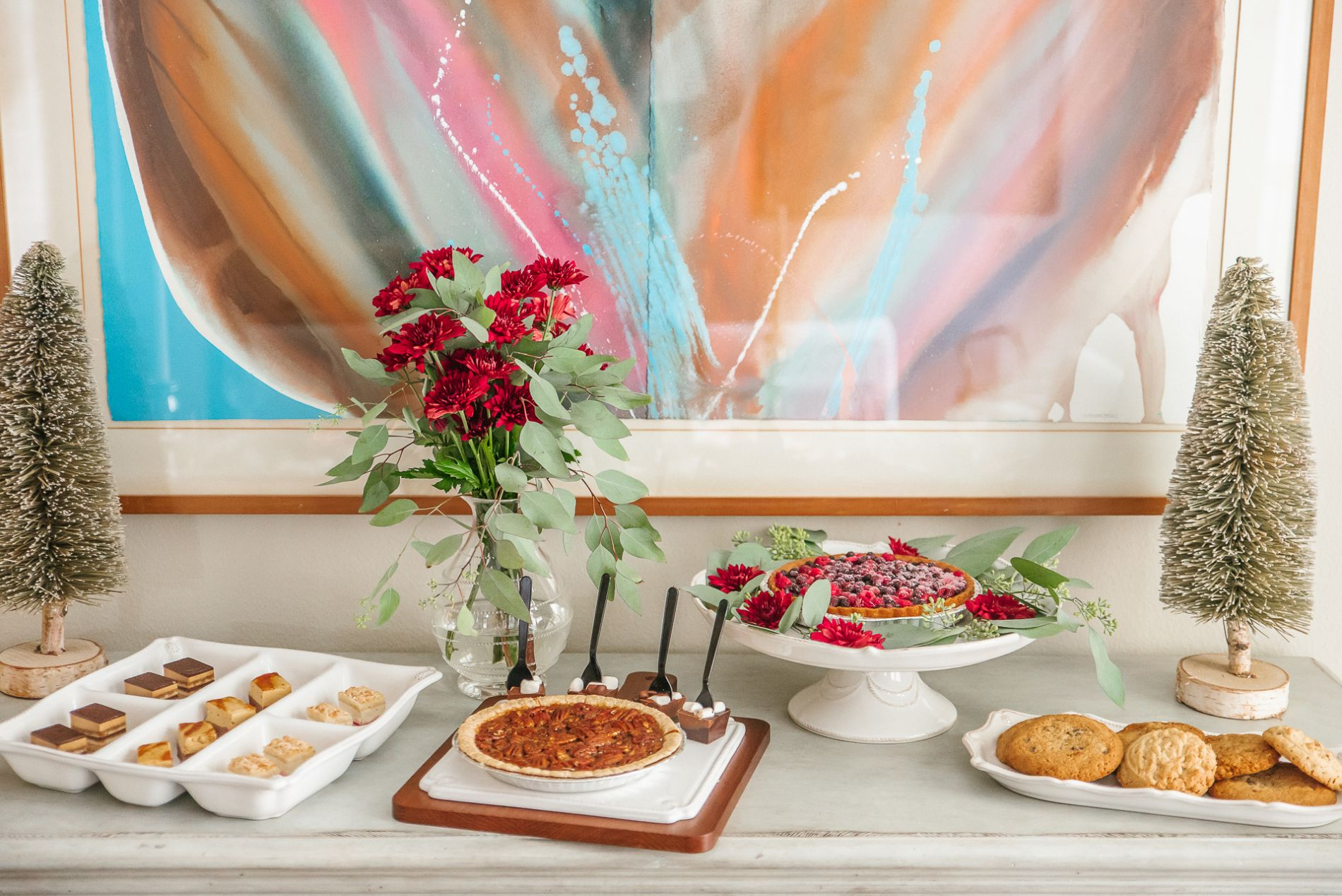 how to create an easy holiday dessert buffet | Adored by Alex
