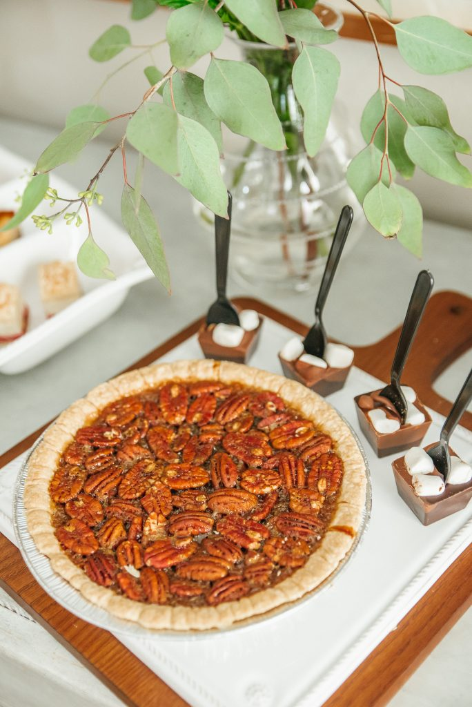 Fresh pecan pie for Christmas