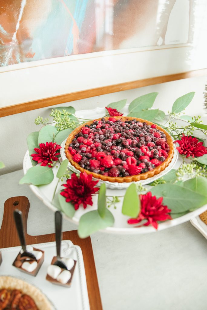 Tasty berry tart and styling