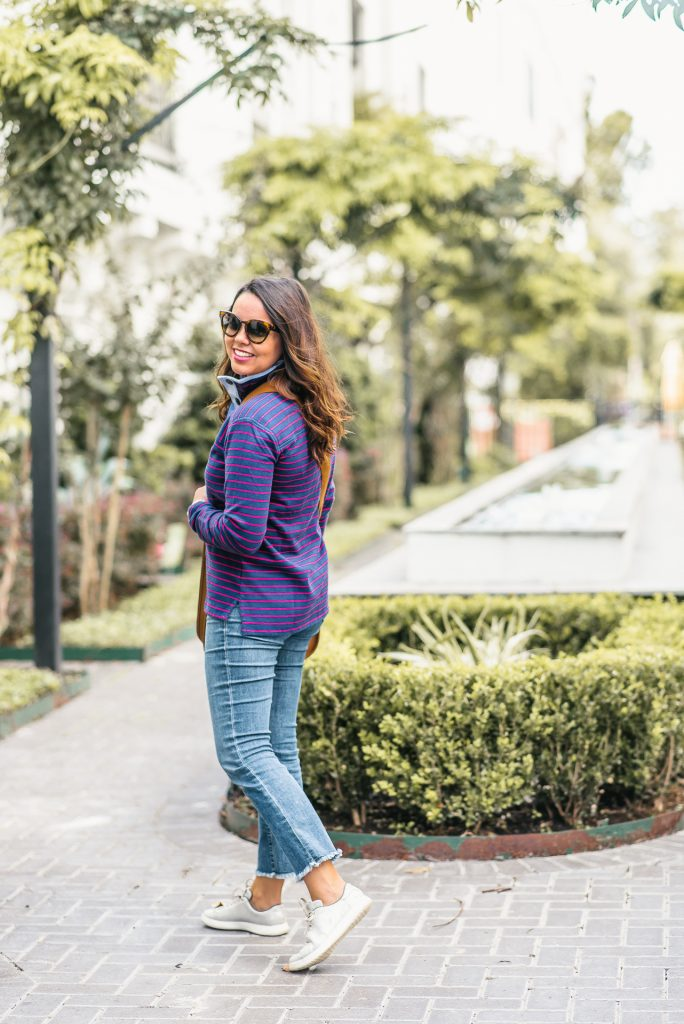 americana striped pullover