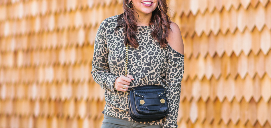 cutout leopard print sweatshirt | Adored by Alex