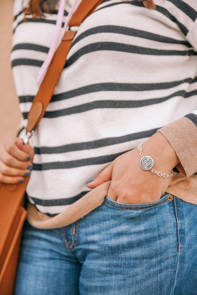 Monogrammed initial bracelet