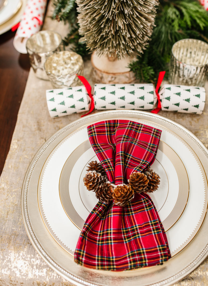 Festive Christmas Dining Tablescape