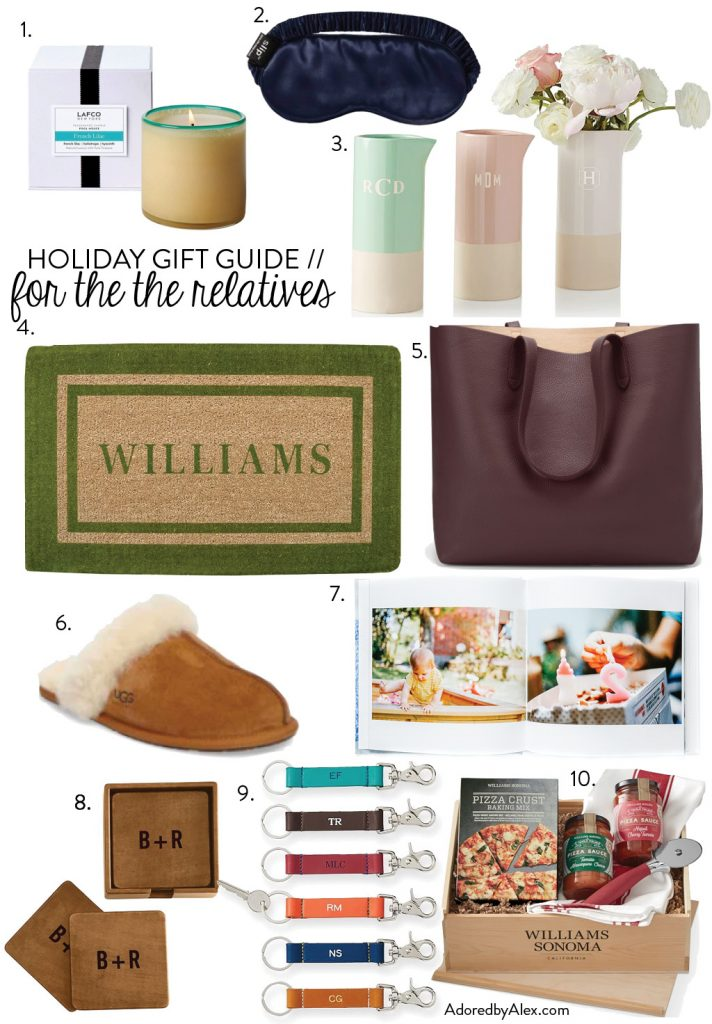10 gift ideas for family and relatives | Adored by Alex