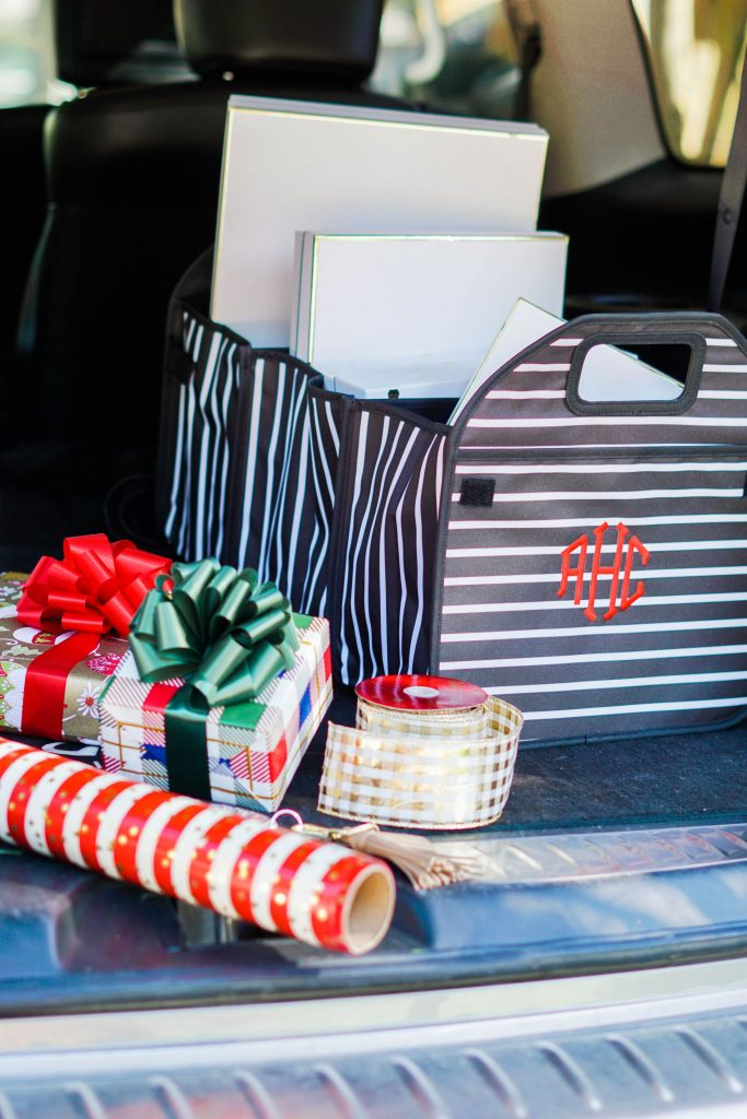 Trunk accordion organizer for the holidays