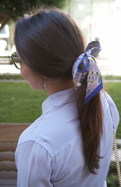 Hermes Twilly Scarf Hair bow