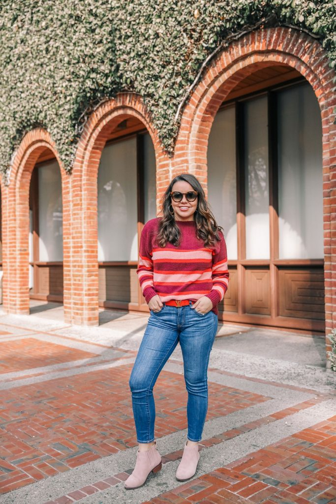 colorful winter sweater outfit ideas