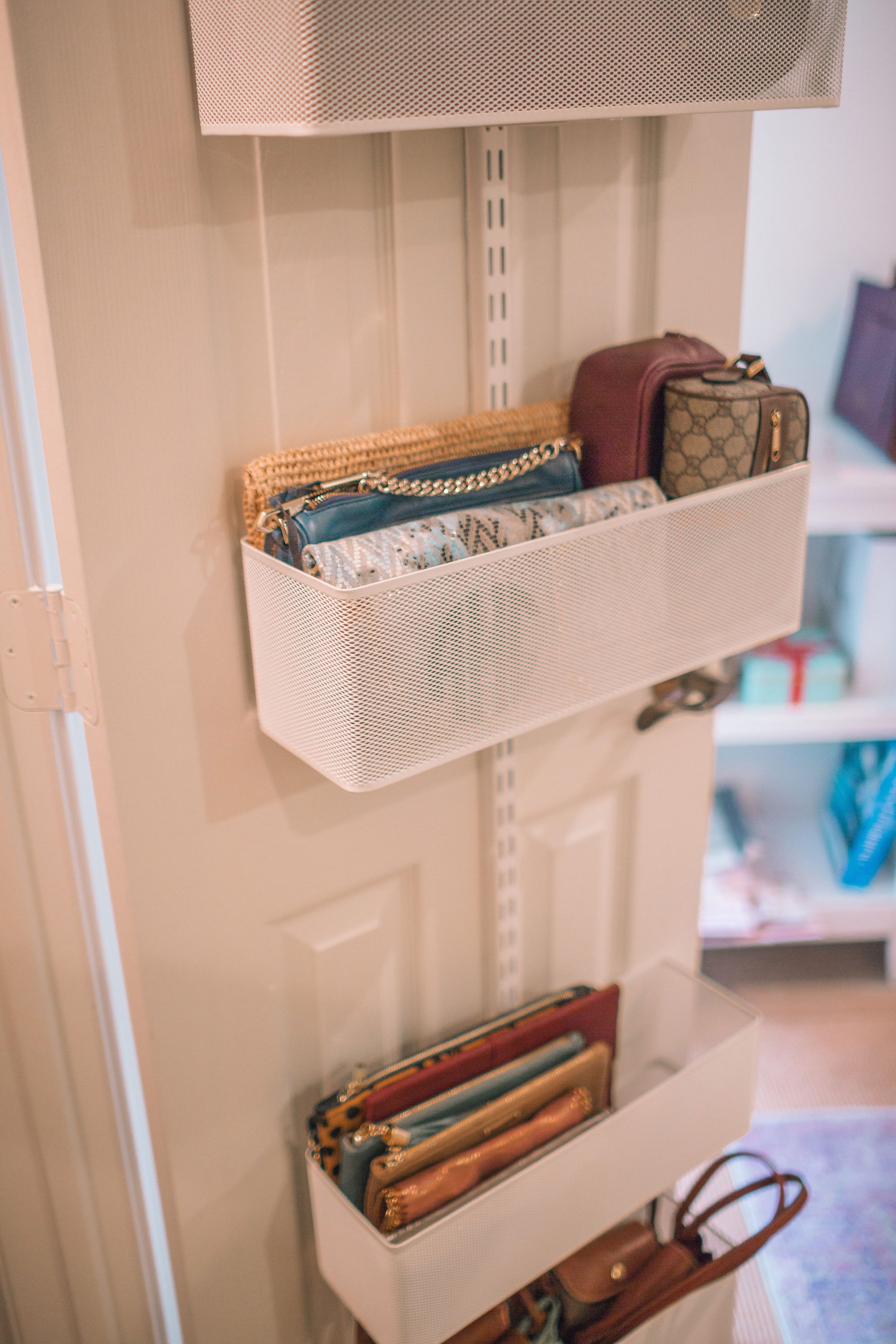Elfa door storage units uses, organized closet | Adored by Alex