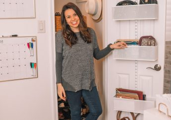 home office closet organization before and after | Adored by Alex