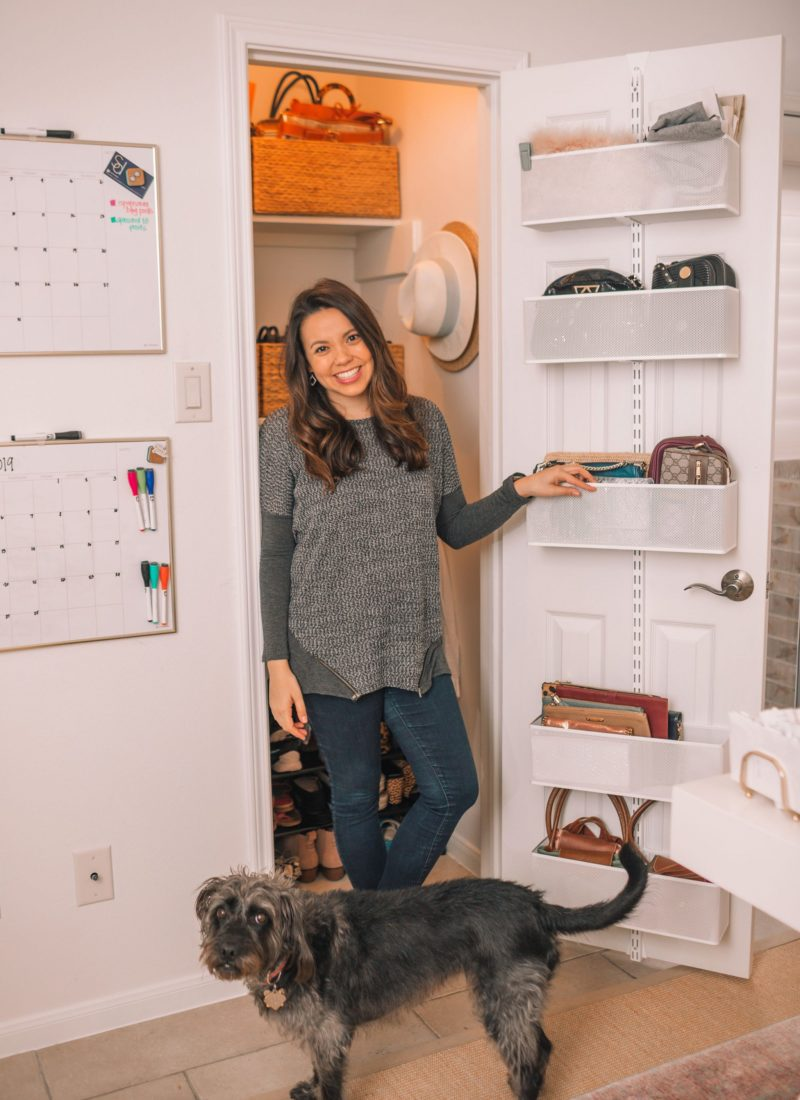 Organizing A Small Office Closet, Before and After