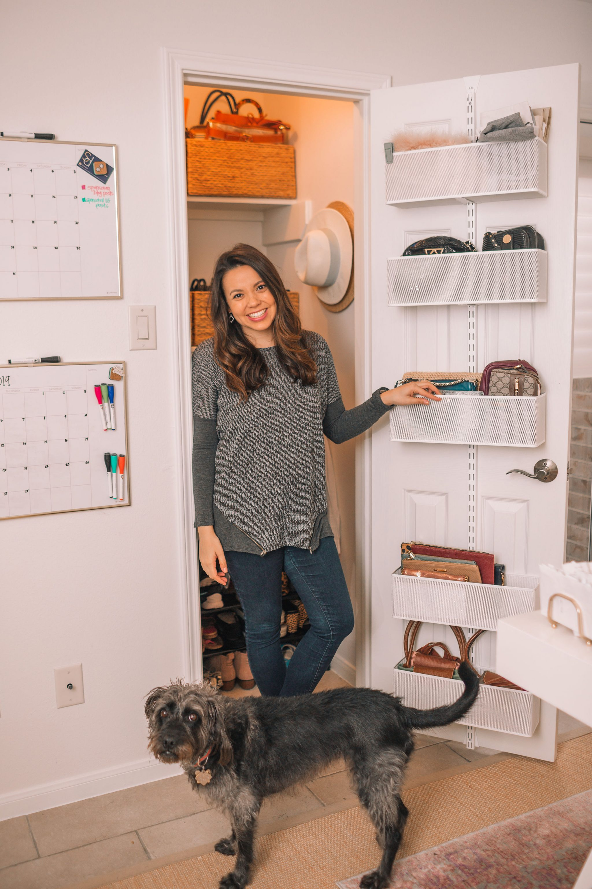 home office closet organization before and after   Adored by Alex