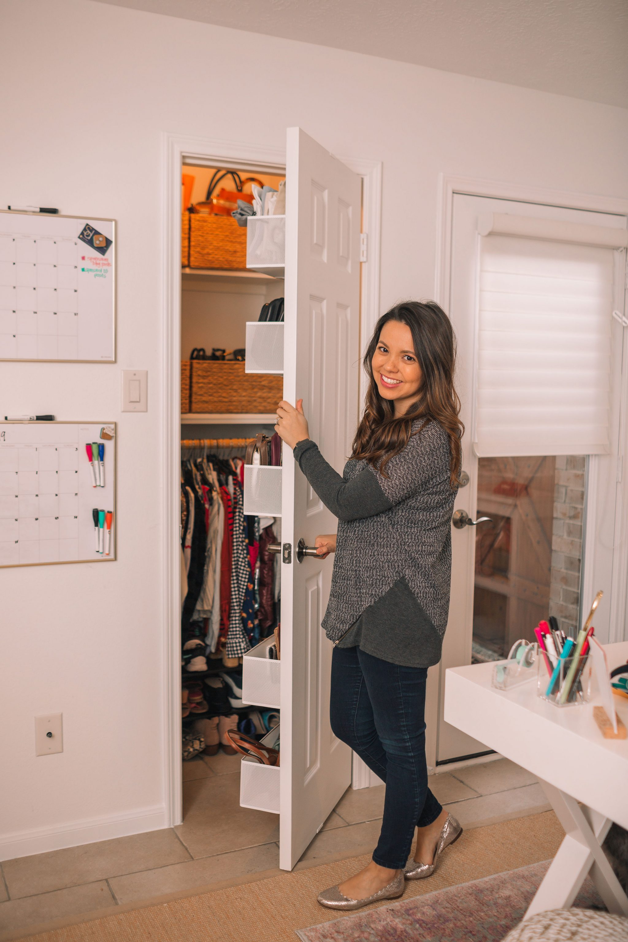 Small office closet organization before and after | Adored by Alex