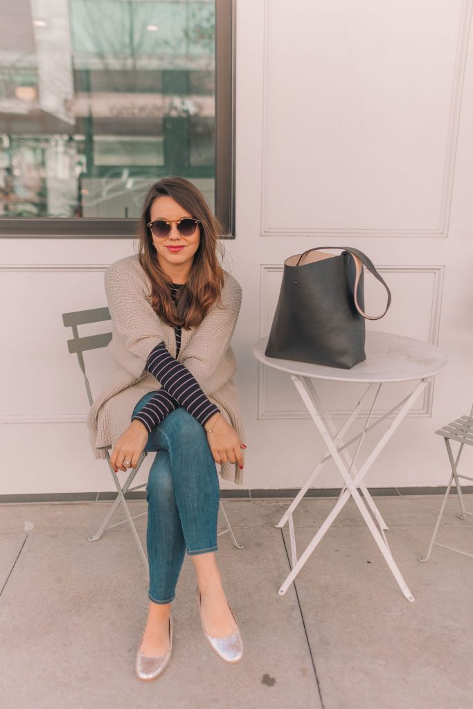How to wear stripes in the winter, budget-friendly outfit ideas