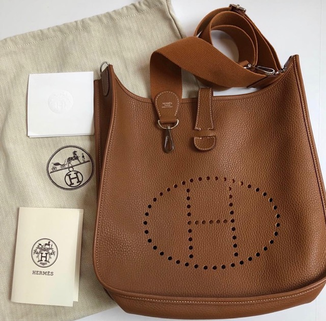 Hermes crossbody bag, designer consignment