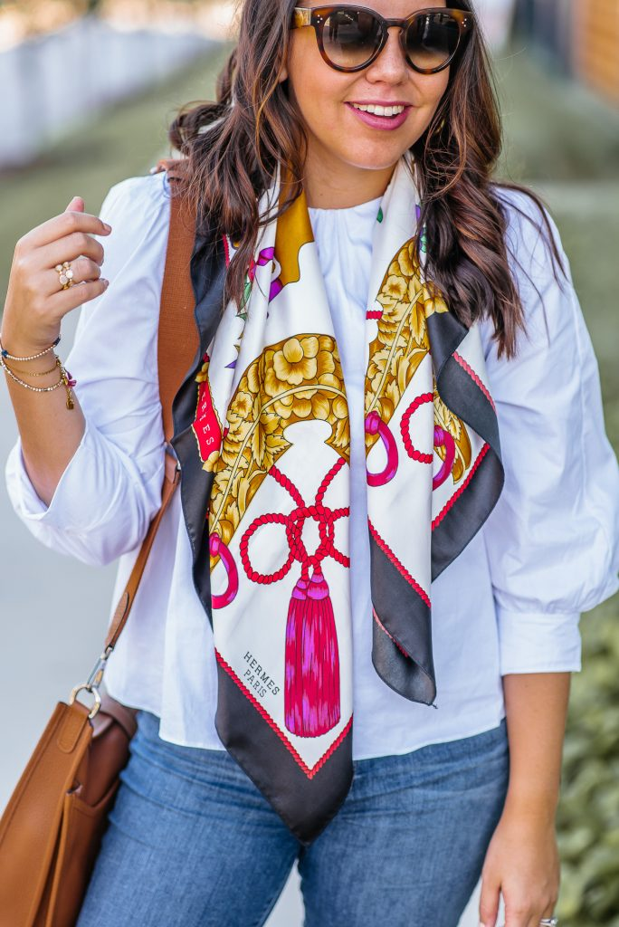 Vintage Hermes scarf, designer consignment steals | Adored by Alex