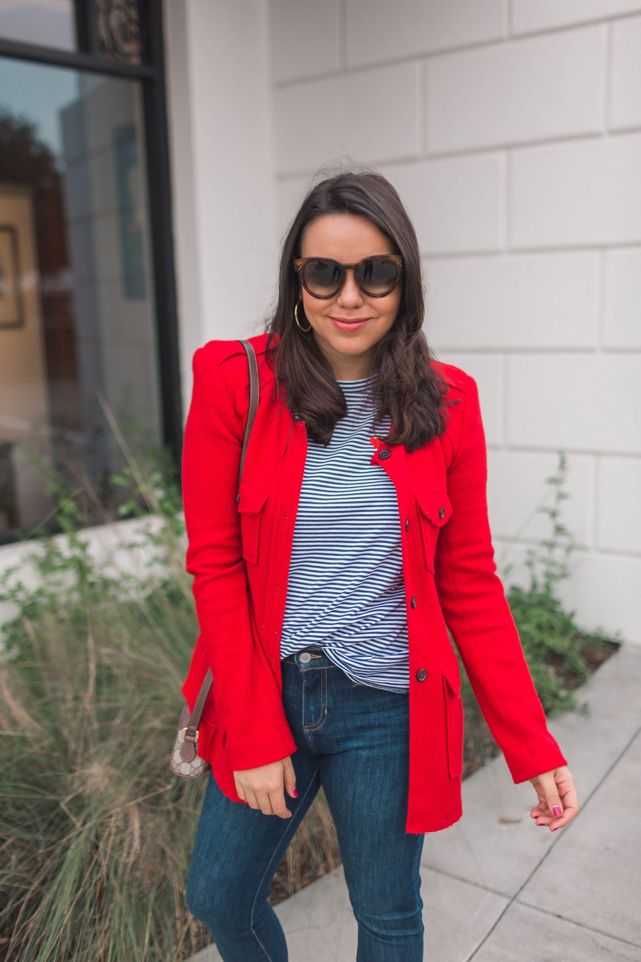Isabel Marant Etoile red wool blazer