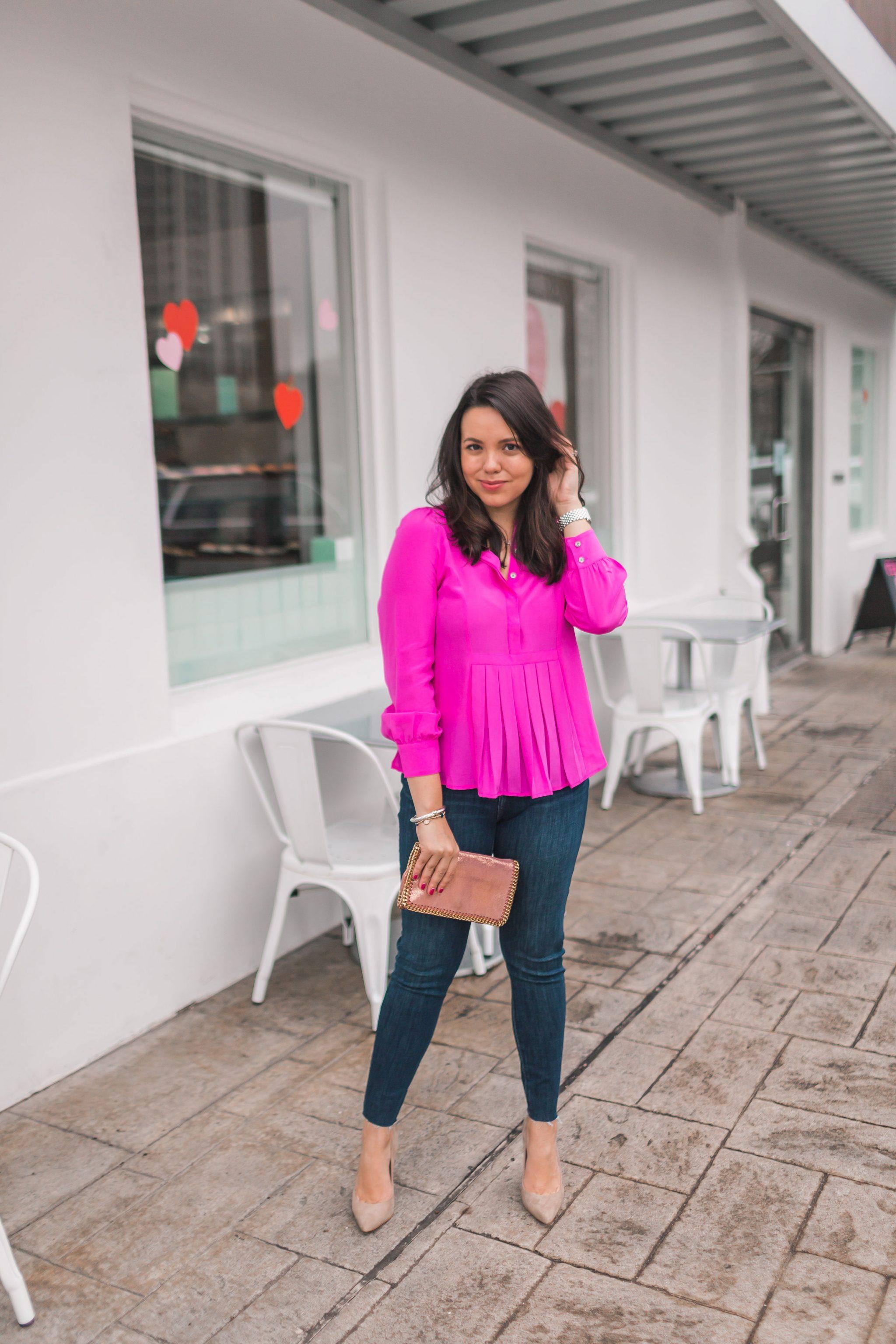 Stella McCartney Falabella pink clutch