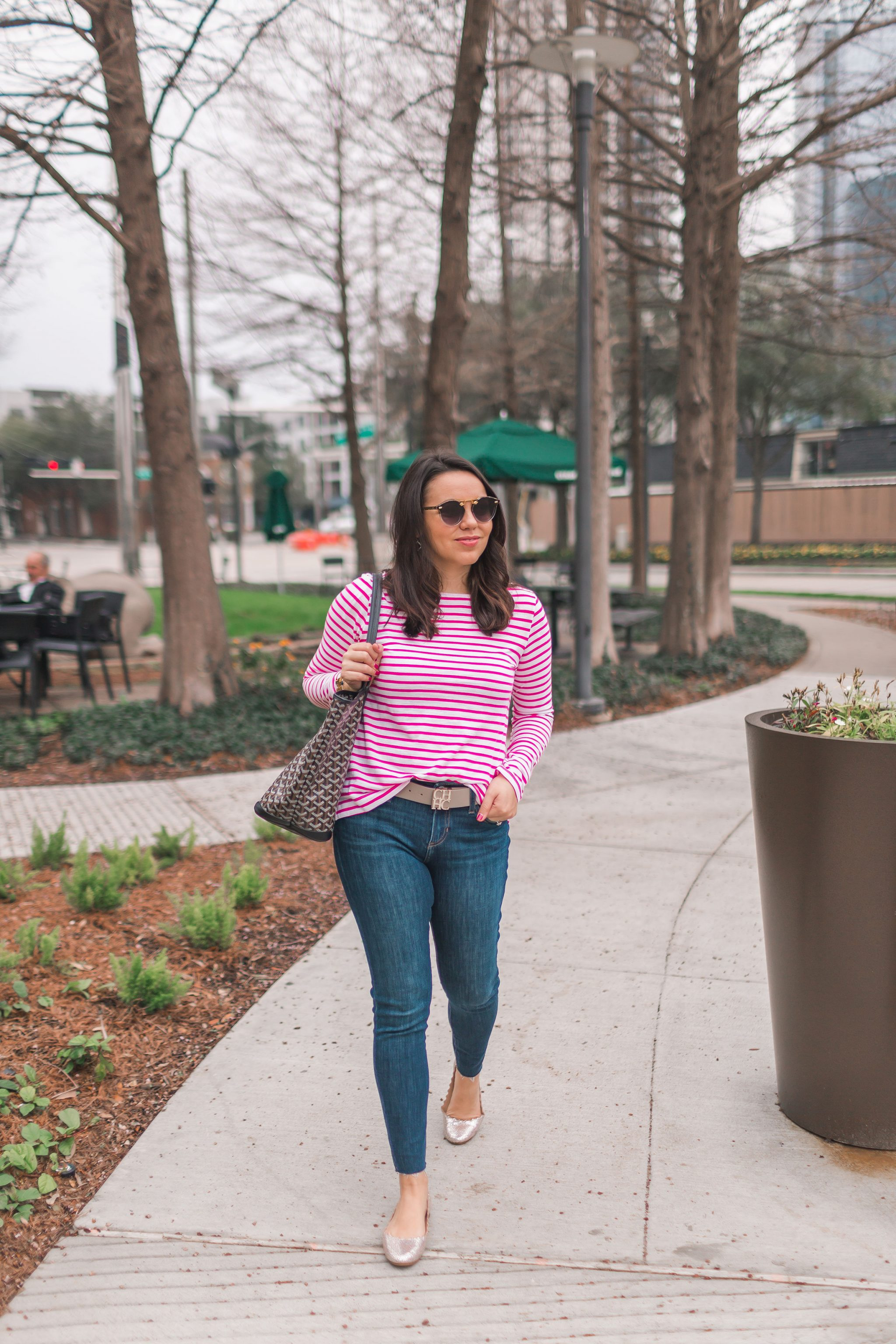 spring stripes, easy outfit idea