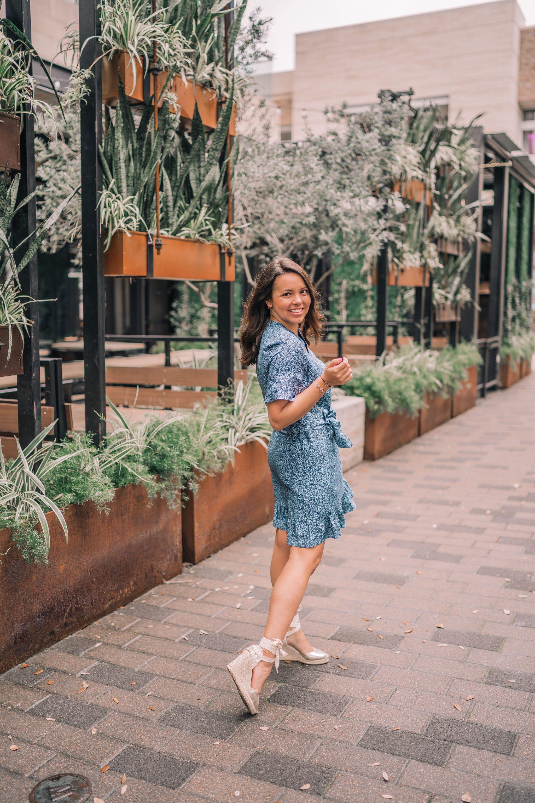 Springtime wrap dress, Soludos espadrilles