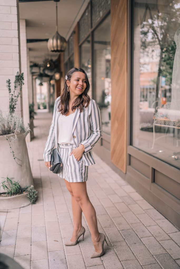 The striped shortsuit you need for spring and summer