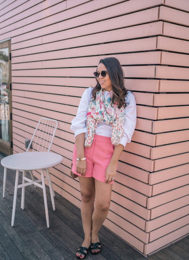 Accessorizing with a floral scarf | Adored by Alex