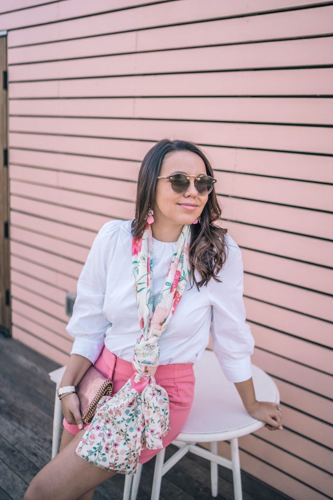 how to accessorize with a floral scarf | Adored by Alex