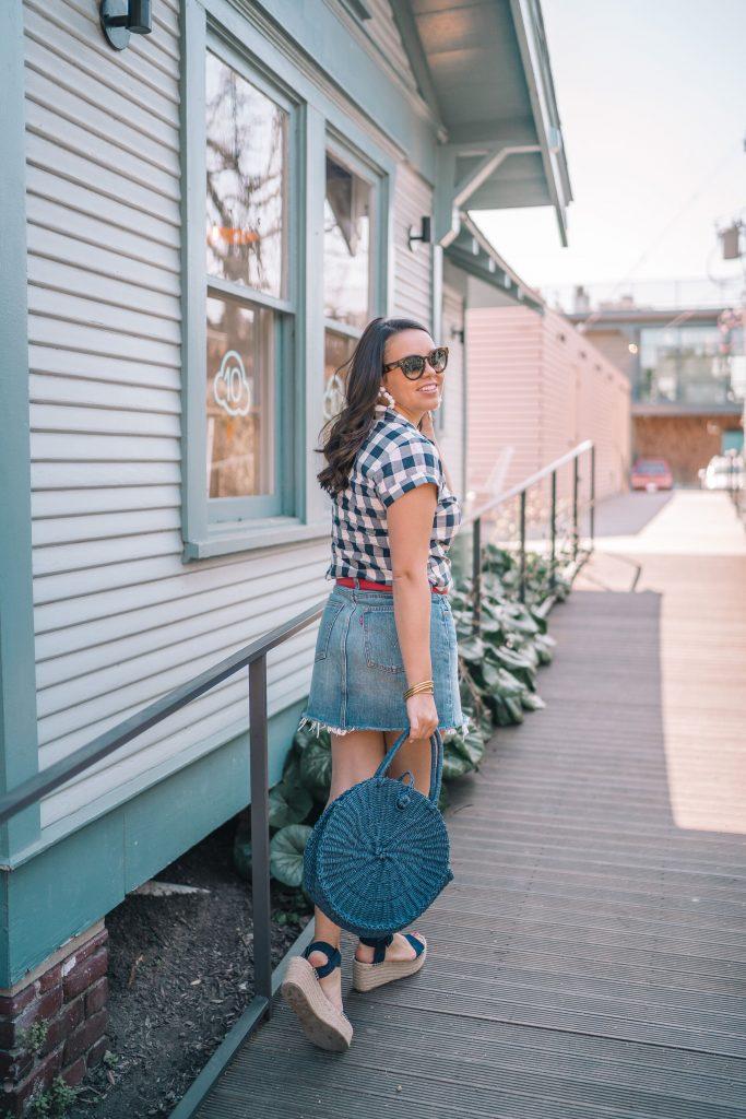 trendy straw handbags, woven circle bag