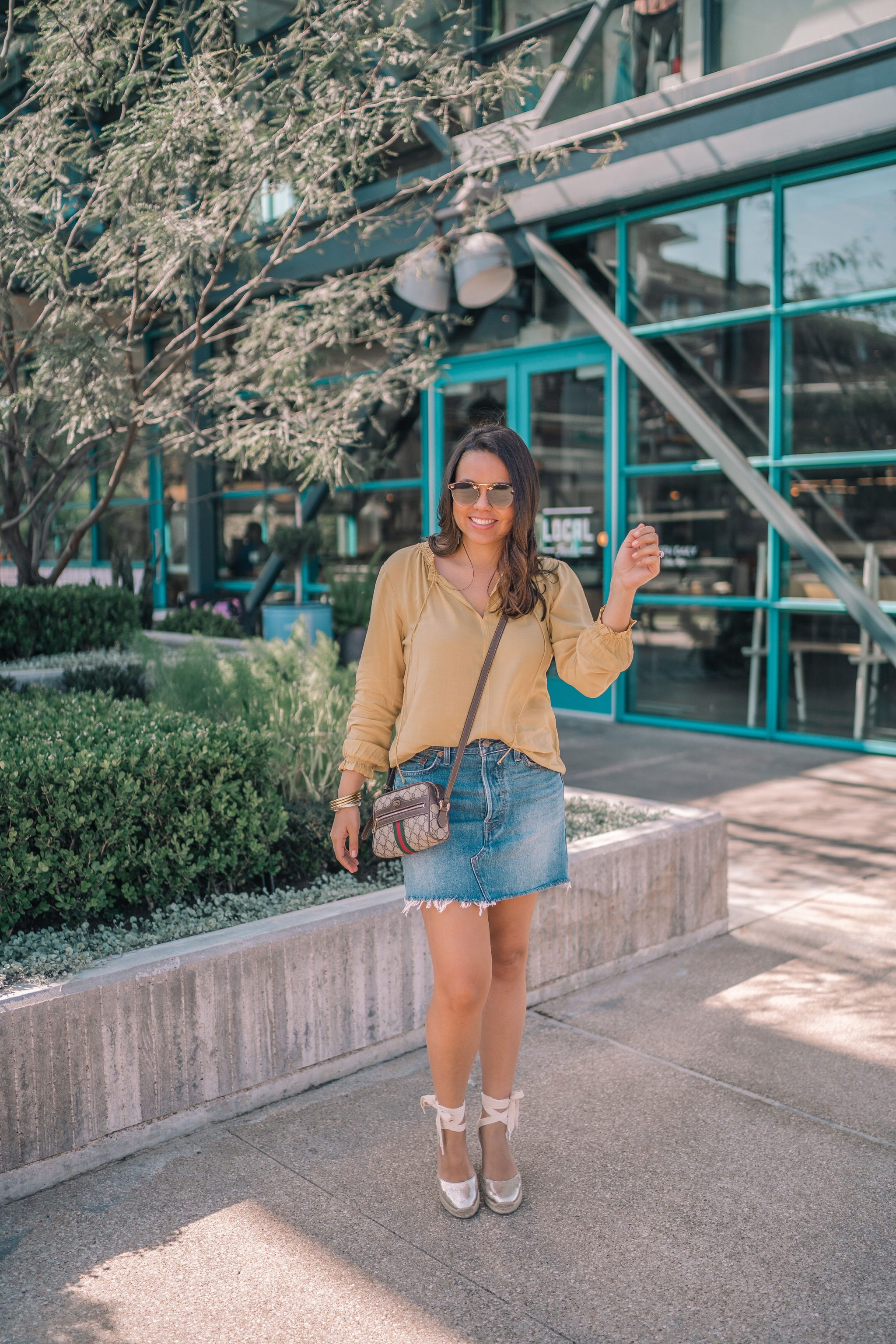 lace-up Soludos espadrille wedges, spring outfit ideas