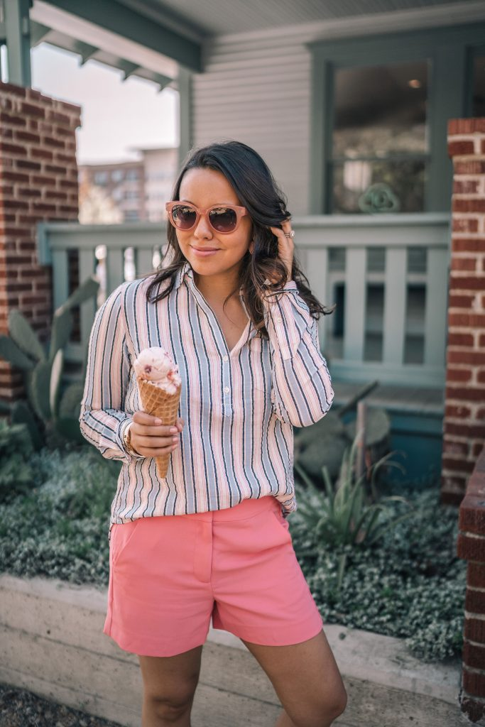 Striped pop-over shirt J.Crew Factory