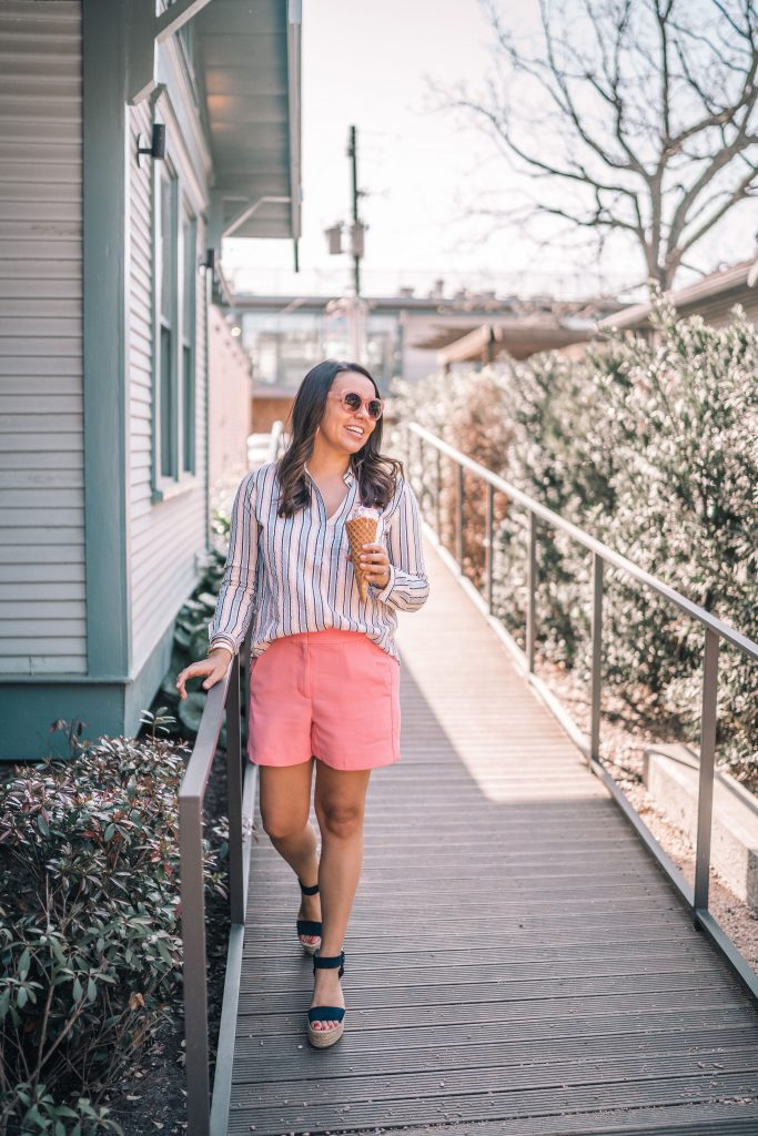 J.crew Factory drapey shorts for spring and summer