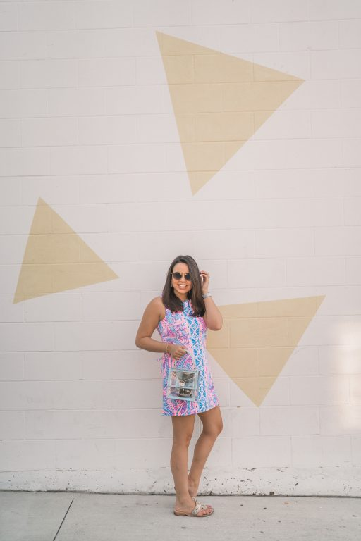 Lilly Pulitzer printed romper | Adored by Alex