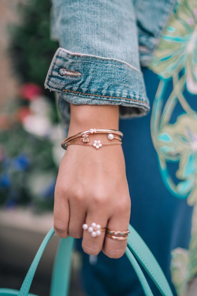 Tous rose gold bracelets and rings | Adored by Alex