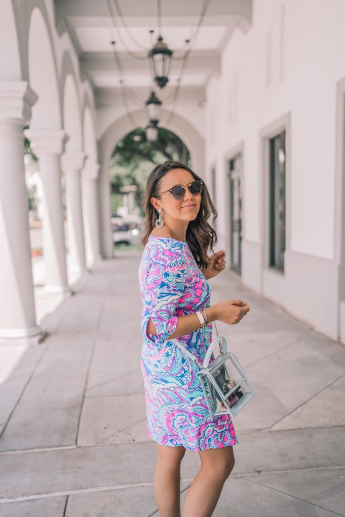 Lilly Pulitzer paisley print tie-sleeve dress