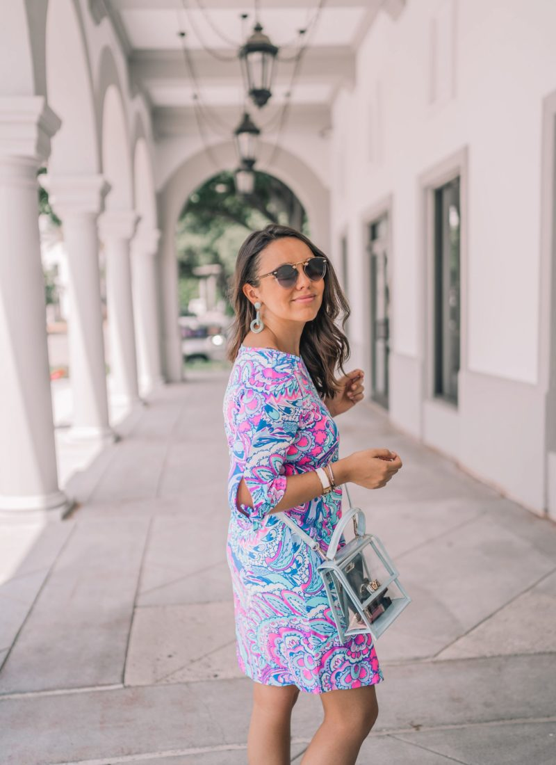 Paisley Print Tie-Sleeve Dress