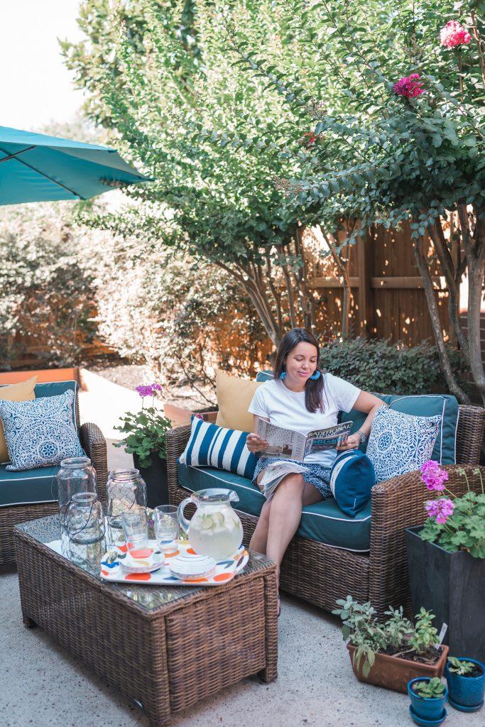 Backyard patio refresh for summer | Adored by Alex