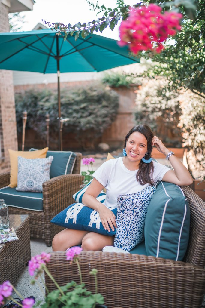 Outdoor patio makeover with Bed Bath & Beyond | Adored by Alex