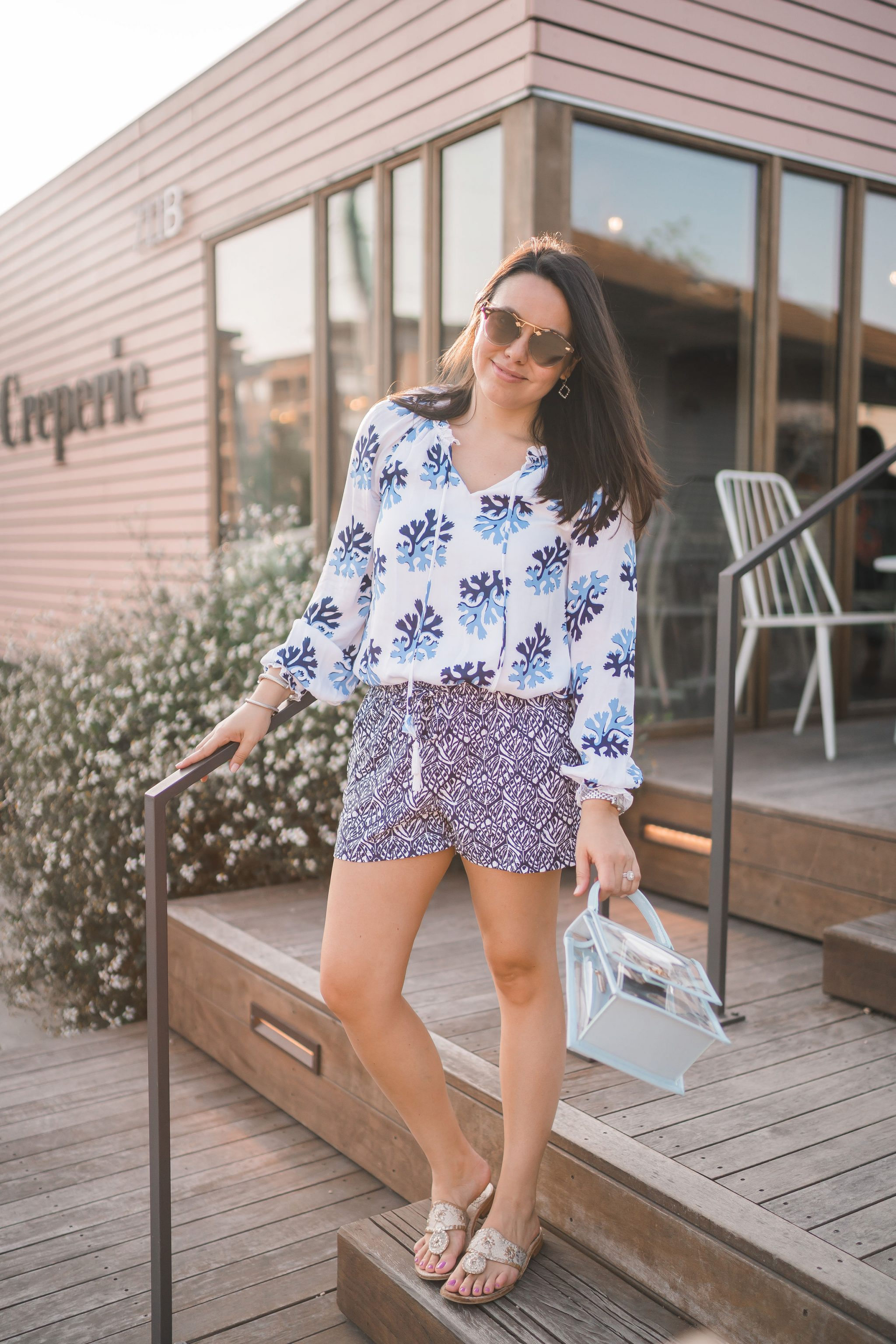how to effortlessly mix outfit patterns, Persifor tunic top